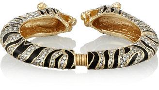 Kenneth Jay Lane Gold-tone, crystal and enamel tiger bracelet