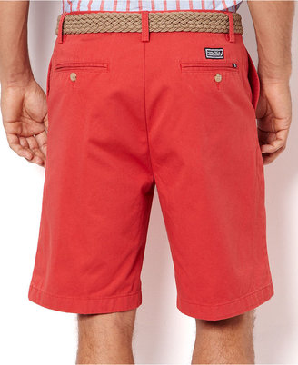 Nautica Shorts, Cotton Twill Flat Front Shorts