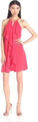 BCBGMAXAZRIA Azria Women's Hattie Short Ruffle Dress