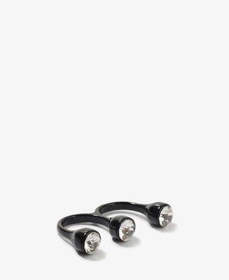 Forever 21 Rhinestone Two-Finger Ring