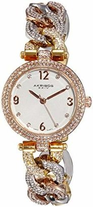 Akribos XXIV Women's AK756TRI Brillianaire Multi-Tone Watch