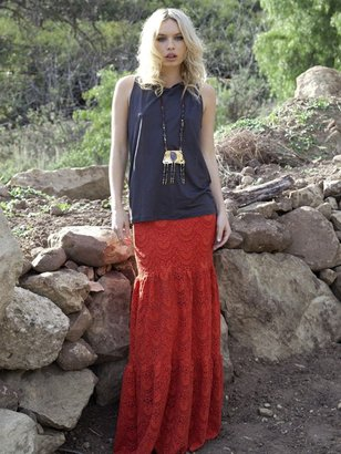 Nightcap Clothing Spanish Skirt in Saffron