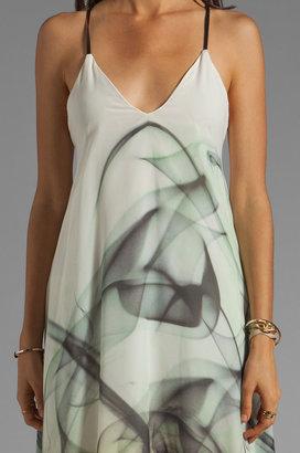 Milly Smoke Print on Chiffon Delaney Vee Dress