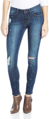 Siwy Women's Ladonna Mid Rise Slim Crop Jean in Artist Wash 25