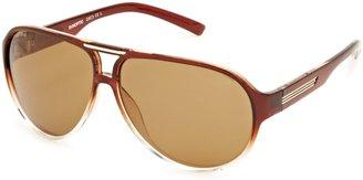 Sunoptic SP114 Aviator Men's Sunglasses Brown/Clear Brown One Size