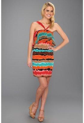 Max & Cleo Becca Halter Dress (Multi) - Apparel