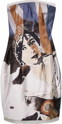 Alexander McQueen Queen print bustier dress