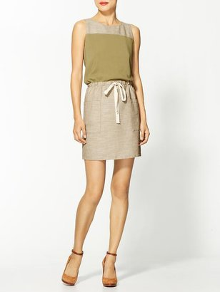 Juicy Couture Hive & Honey Colorblocked Linen Drawstring Dress