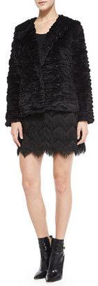 Milly Zigzag Tassel-Fringe Miniskirt