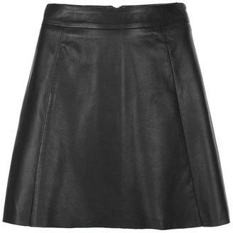 AllSaints Sens Leather Skirt