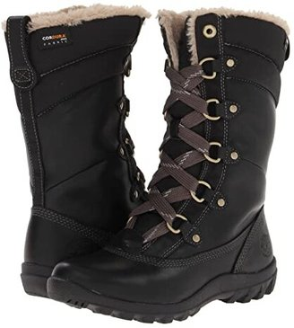 Timberland Mount Hope Mid (Black Forty Leather) Women's Lace-up Boots