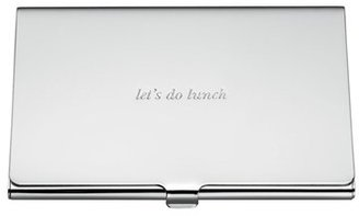 Women's Kate Spade New York 'Let's Do Lunch' Business Card Holder - Metallic $20 thestylecure.com