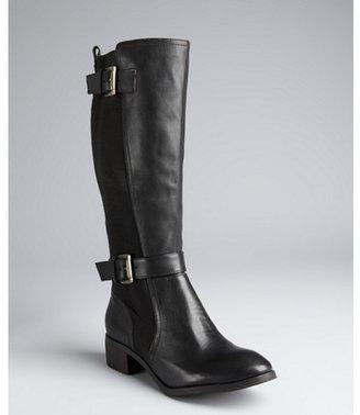Madison Harding black leather 'Alex' buckle boots