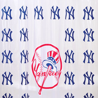 """New York Yankees MLB 72"""" x 72"""" PVC Frosted Shower Curtain"""