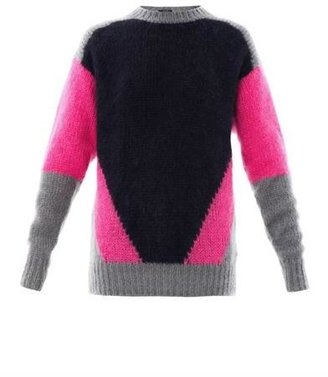 Joseph Intarsia-knit mohair sweater