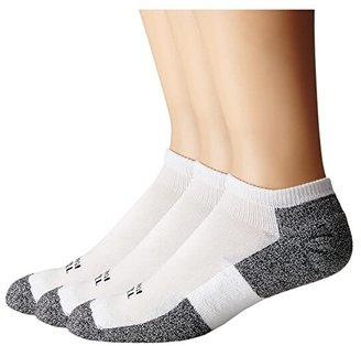 Thorlos Lite Running Micro-Mini 3-Pair Pack (White/Black) Men's No Show Socks Shoes
