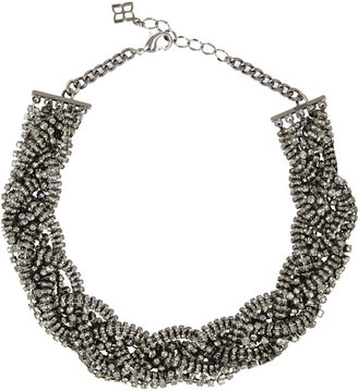 BCBGMAXAZRIA Braided Pave Necklace