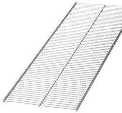 "Elfa 16"" x 4' Ventilated Shelf Platinum"