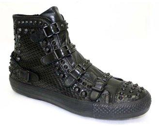 "Ash Venom"" Black Leather High Top Sneaker"