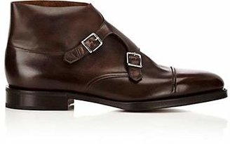John Lobb Men's William II Double-Monk-Strap Boots - Dk. brown