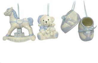 St Nicholas square ® 3-pc. baby boy christmas ornament set