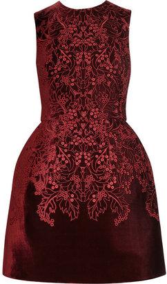 McQ by Alexander McQueen The broderie anglaise velvet bell dress
