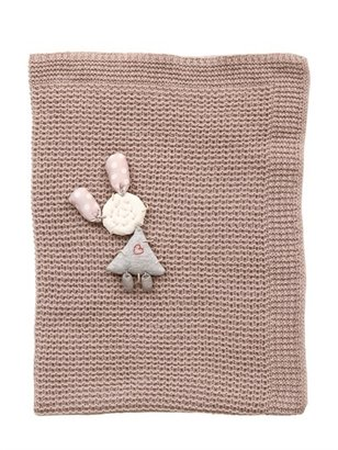 Cashmere Crib Blanket With Appliqué