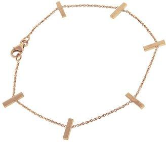 Jennifer Meyer Cross Bar Chain Bracelet - Rose Gold