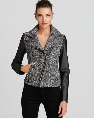 Aqua Jacket - Asymmetric Zip Tweed Bike