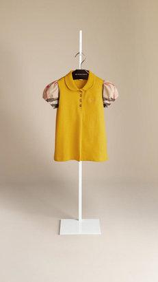 Burberry Puff Sleeve Polo Shirt