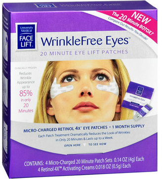 Face Lift WrinkleFree Eyes 20 Minute Eye Lift Patches