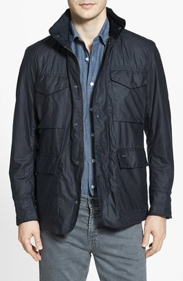Men's Barbour 'Sapper' Tailored Fit Weatherproof Waxed Jacket $399 thestylecure.com