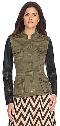 Gianni Bini Lana Faux-Leather Trim Jacket