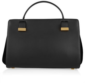 The Row Leather and suede doctor bag
