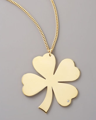 Jennifer Zeuner Jewelry Diamond Clover Necklace