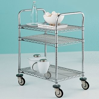 Container Store 3-Shelf Serving Cart