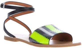 Marc by Marc Jacobs striped flat sandal