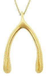 Jennifer Meyer Yellow Gold Wishbone Pendant