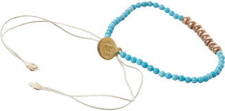 Nikki-b Nikki B Rose Gold & Turquoise Bead Bracelet