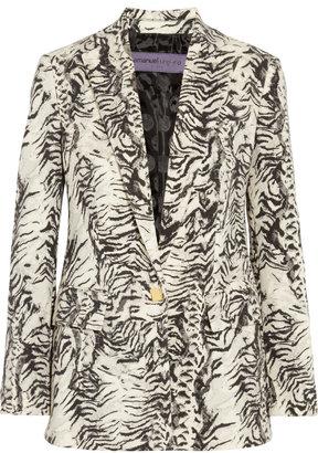 Ungaro Animal-Print Wool-Blend Blazer