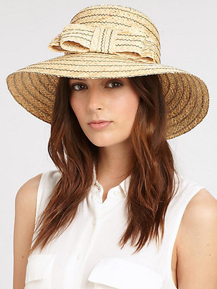 Helene Berman Bow Straw Hat