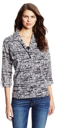 Sag Harbor Women's Geo Print Blouse