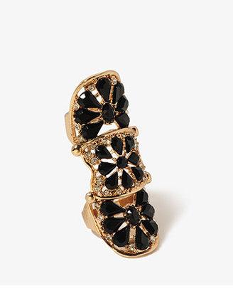Forever 21 Teardrop Rhinestoned Knuckle Ring