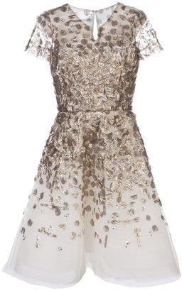 Oscar de la Renta Embellished cocktail dress
