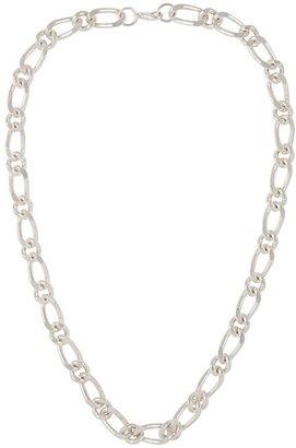 Susan Caplan Vintage 1990s Vintage Silver Figaro Chain Necklace