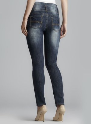 Hot Kiss Three Button High Waist Skinny Jeans