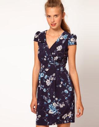 A/Wear A Wear Floral Print Wrap Dress