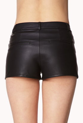 Forever 21 Faux Leather Shorts