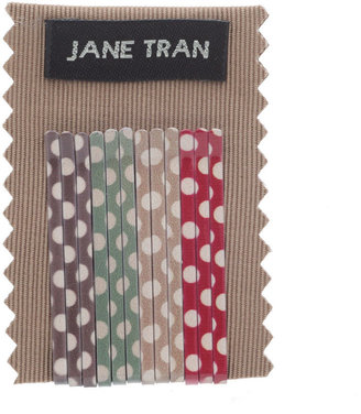 Jane Tran Hair Accessories Group Of Polka Dot Bobby Pin, Small 1 set