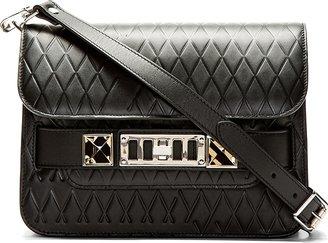 Proenza Schouler Black Embossed Leather PS11 Mini Shoulder Bag